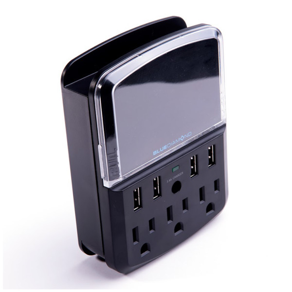 BlueDiamond Defend Space Saver + Charger + 3 Outlets