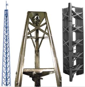 Standard Duty Self-Supporting Tower: up to 68′