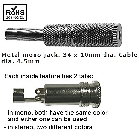 22-373-84, 3.5mm Stereo Jack