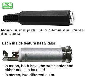 24-670-50, 1/4″ Stereo Jack