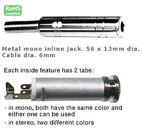 24-673-110, 1/4″ Stereo Jack