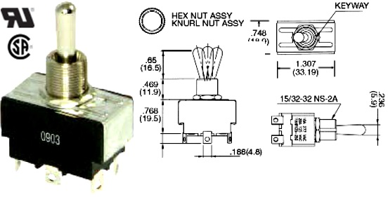 35-144-000 TOGGLE SWITCH