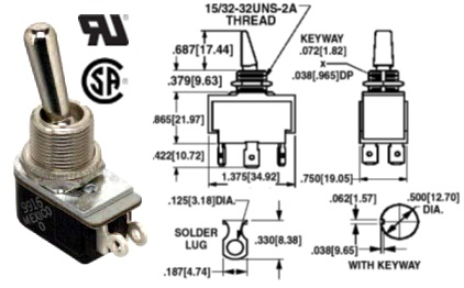 35-160-000 TOGGLE SWITCH