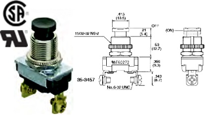 35-3457 STANDARD PUSHBUTTON