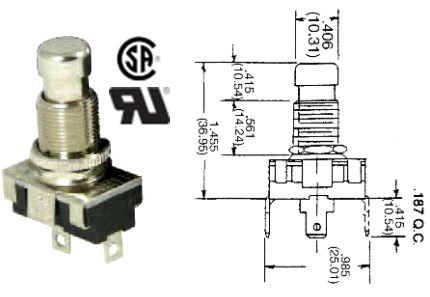 35-448 STANDARD PUSH BUTTON SWITCH