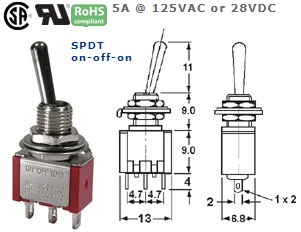 41-235T-102 SUB-MINIATURE SWITCH