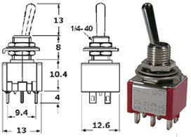 41-246-129 ECONOMY SUB-MINIATURE SWITCH