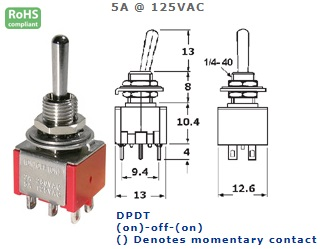 41-247-135 ECONOMY SUB-MINIATURE SWITCH