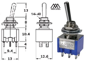 41-247B-300 STANDARD SUB-MINIATURE SWITCH