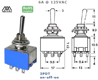 41-252-380 STANDARD SUB-MINIATURE SWITCH