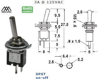 41-310-140 ULTRA MINIATURE TOGGLE SWITCH