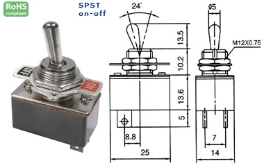 42-210-55 STANDARD TOGGLE SWITCH
