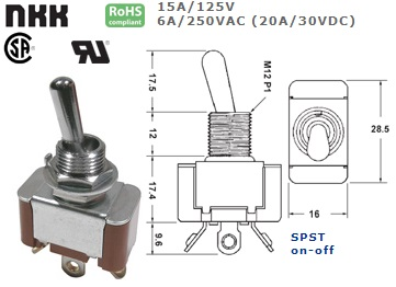 42-410-470 STANDARD TOGGLE SWITCH