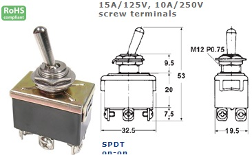 42-413-155 STANDARD TOGGLE SWITCH