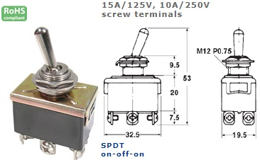 42-415-155 STANDARD TOGGLE SWITCH