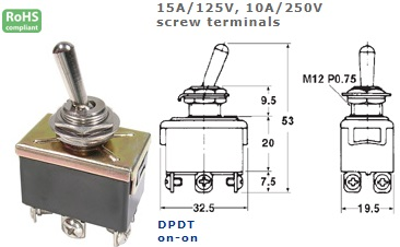 42-423-210 STANDARD TOGGLE SWITCH