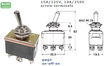 42-425-215 STANDARD TOGGLE SWITCH