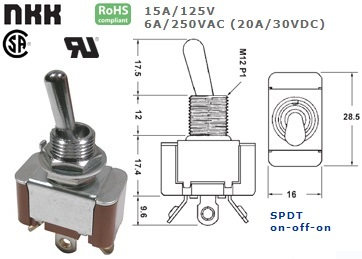 42-425B-425 STANDARD TOGGLE SWITCH