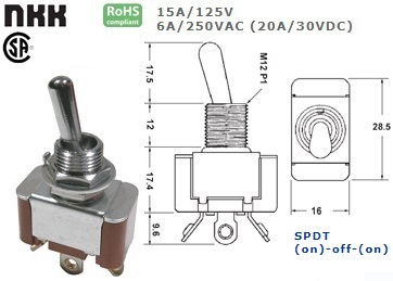 42-427-525 STANDARD TOGGLE SWITCH