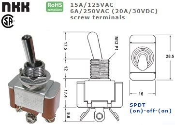42-427S-360 STANDARD TOGGLE SWITCH