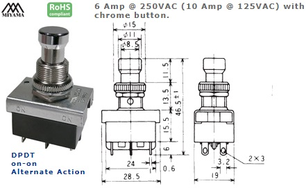 44-123-555 PUSH BUTTON SWITCH