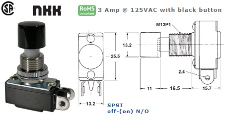 44-201-445 PUSH BUTTON SWITCH