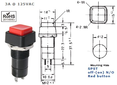 44-480-56 PUSH BUTTON SWITCH