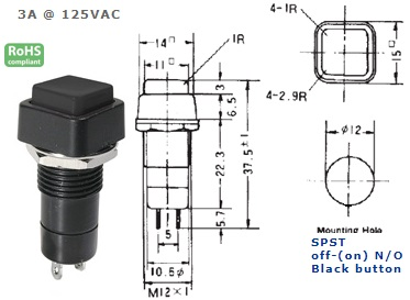 44-481-56 PUSH BUTTON SWITCH