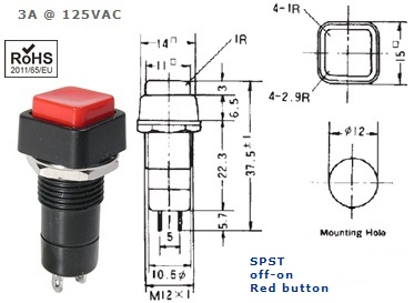 44-482-47 PUSH BUTTON SWITCH