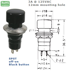44-490-49 PUSH BUTTON SWITCH