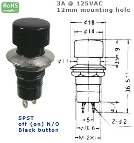 44-492-51 PUSH BUTTON SWITCH