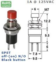 44-552-43 PUSH BUTTON SWITCH