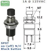 44-553-71 PUSH BUTTON SWITCH