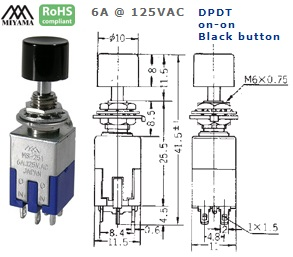 44-611-340 PUSH BUTTON SWITCH