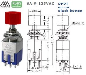 44-622-263 PUSH BUTTON SWITCH