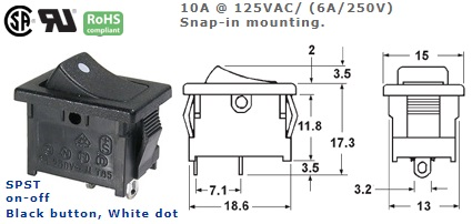46-143J-51 ROCKER SWITCH