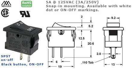 46-144-155 ROCKER SWITCH