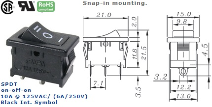 46-145J-63 ROCKER SWITCH
