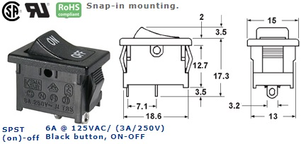 46-146J-44 ROCKER SWITCH