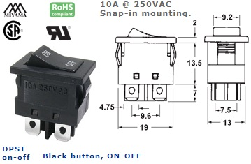 46-151-225 ROCKER SWITCH