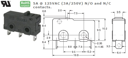 47-300-47 MICRO SWITCH