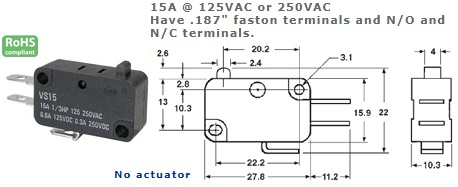 47-400-108 MICRO SWITCH