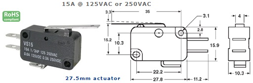 47-402-129 MICRO SWITCH