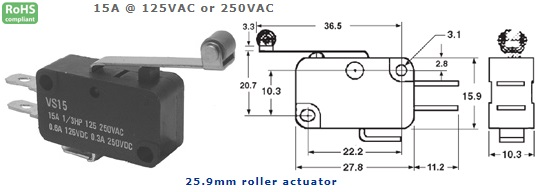 47-406-139 MICRO SWITCH