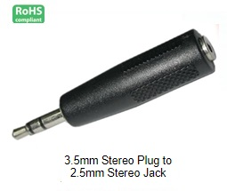 15-1354, 3.5mm Stereo Plug to 2.5mm Stereo Jack