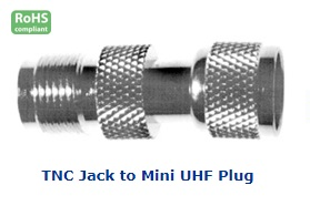 21-180-156 TNC JACK TO MINI UHF PLUG