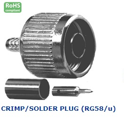 21-450-307 N CONNECTOR CRIMP/SOLDER PLUG