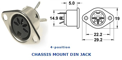 25-340‐46 CHASSIS MOUNT DIN JACK