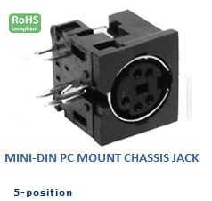 26-350‐46 MINI‐DIN CHASSIS JACK
