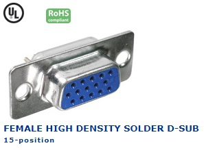 30-820‐46 FEMALE HIGH DENSITY SOLDER D-SUB